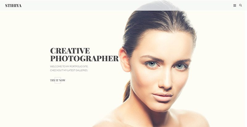 Stihiya themes wordpress creer site web photographe agence