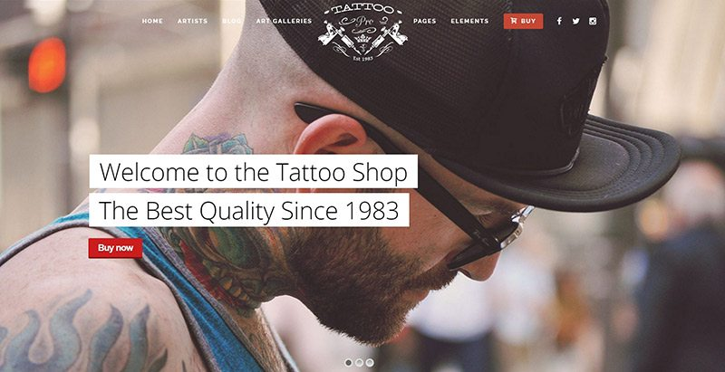 Tattoo pro themes wordpress creer site web salon tatouage