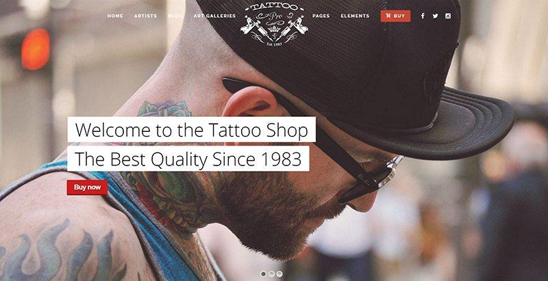 Tattoo pro themes wordpress creer site web salon tatouage