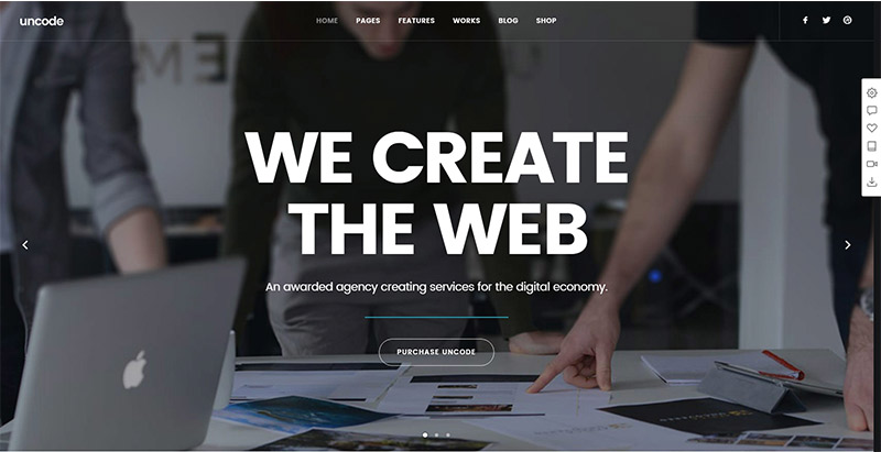 Uncode themes wordpress populaires creer site web
