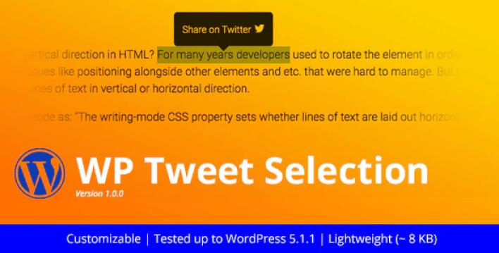 Wp tweet selection twitter highlighter plugin wordpress