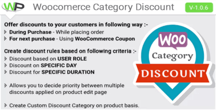 plugins WordPress premium pour optimiser vos catégories - Woocommerce category discount