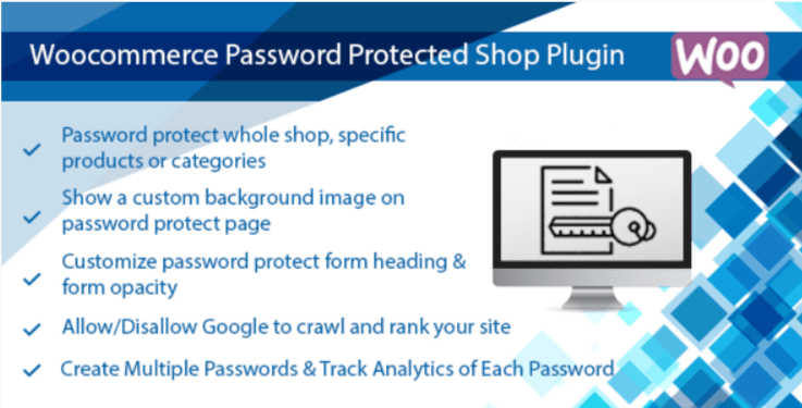 Woocommerce password protected products categories or shop plugin