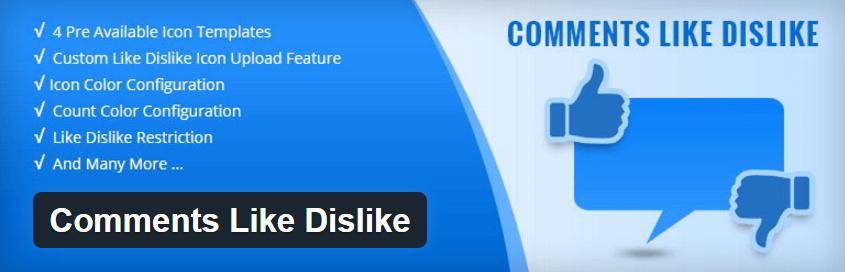 Wordpress comments like dislike