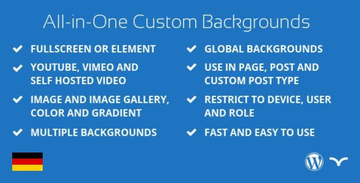 Aoi custom background plugin wordpress pour arrière plan