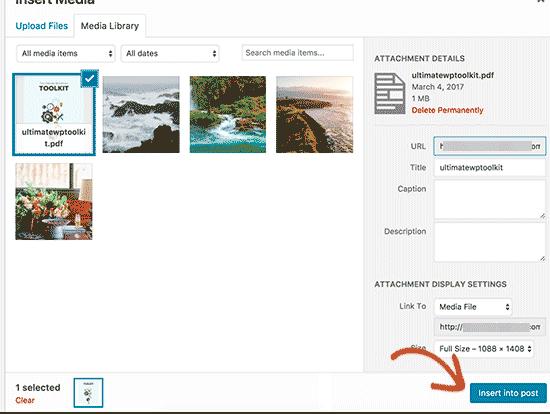Comment ajouter des PDF sur votre blog WordPress