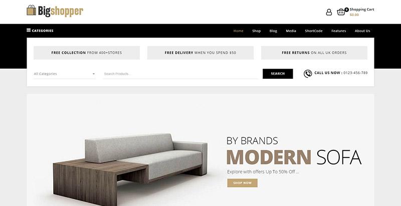 ecfe2e3df53b3e 10 WordPress temas para criar um site de comércio eletrônico ...