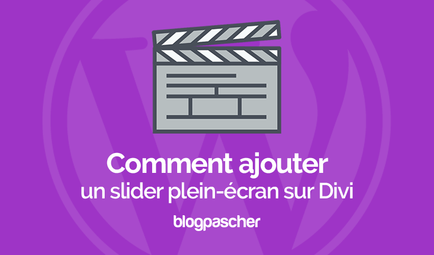 How to add a full screen slider to divi