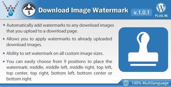 Edd download image watermark plugin wordpress pour copyright