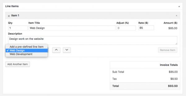 Hướng dẫn lập hóa đơn trong wordpress