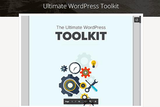 Fichier d'intégration WordPress