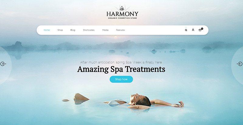 Harmony thèmes wordpress créer site web ecommerce