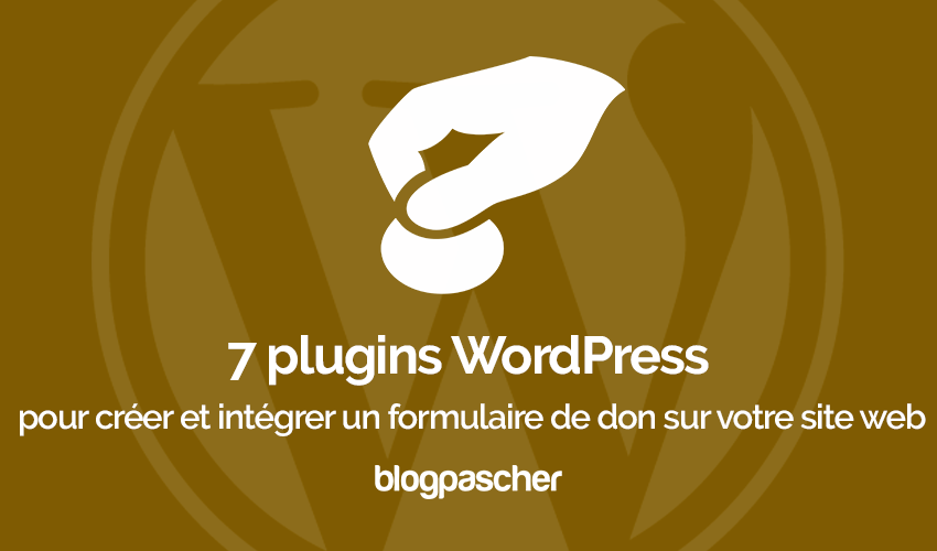 Plugins Wordpress Integrer Formulaire Don Site Web