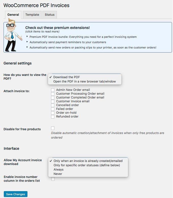 Comment générer des PDF pour des factures WooCommerce