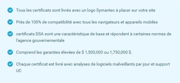 Symantec avantages ssl