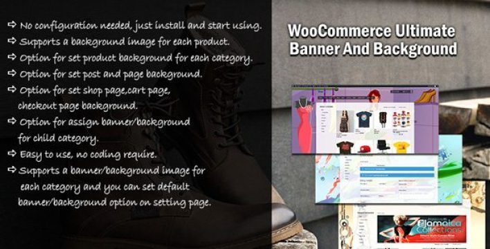 Wc ultimate baanner background plugin wordpress pour arrière plan