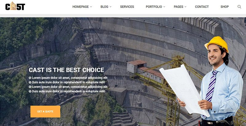 Elenco temas wordpress creer site web renovação construção btp
