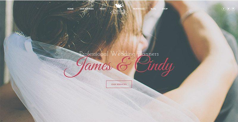 Celebration themes wordpress créer site web mariage fiançailles époux fiancé