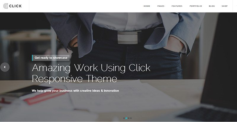 Click themes wordpress creer site web entreprise construction agence