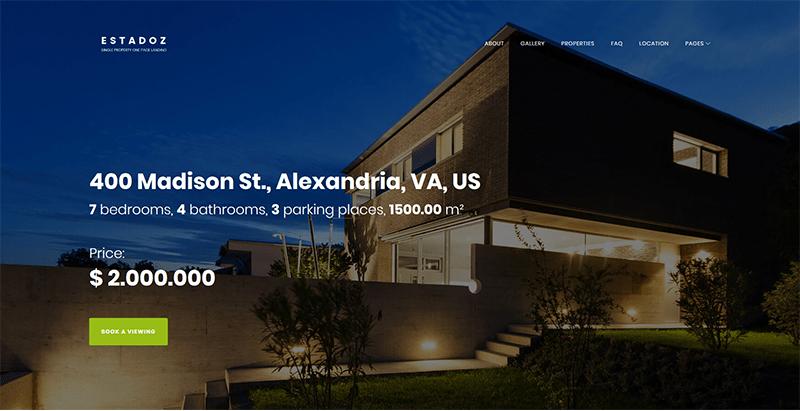 créer un site Web d'agence immobilière - Estadoz