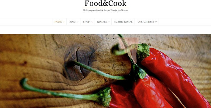 Food Cook themes wordpress pour blog de cuisine
