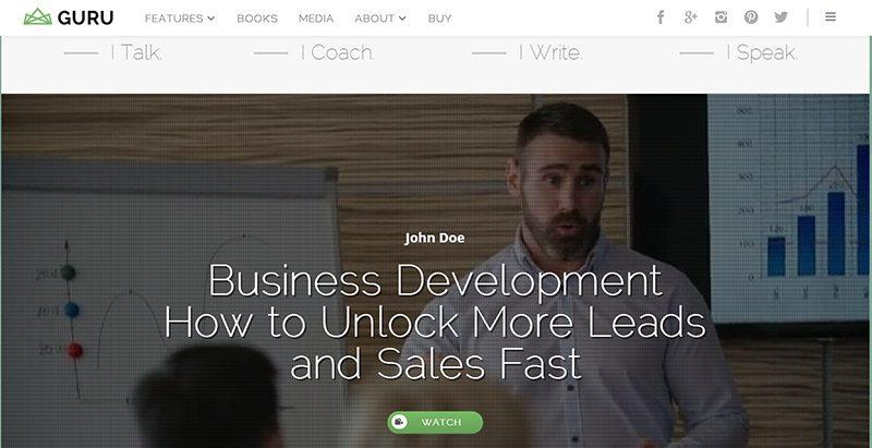 Gurublog Themes Wordpress Creer Site Web Entreprise Agence Pme Startup