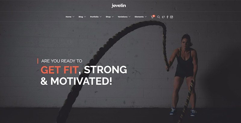 Jevelin themes wordpress creer site web club fitness gym