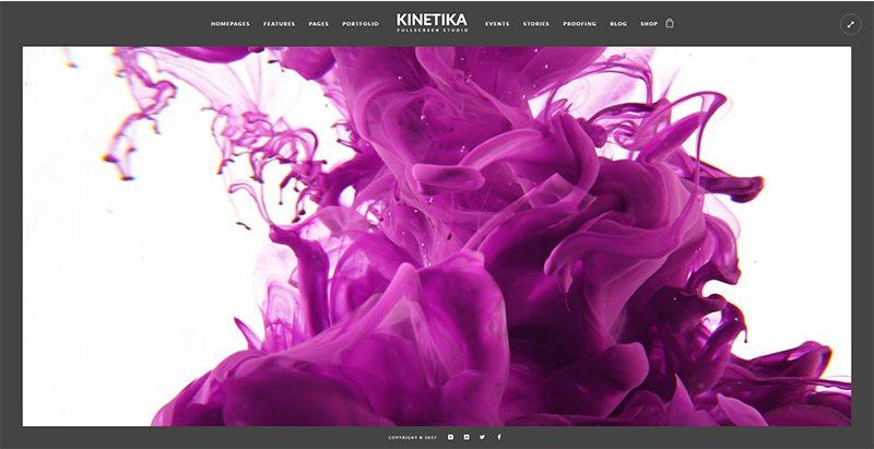 Kinetika themes wordpress creer site web photographe