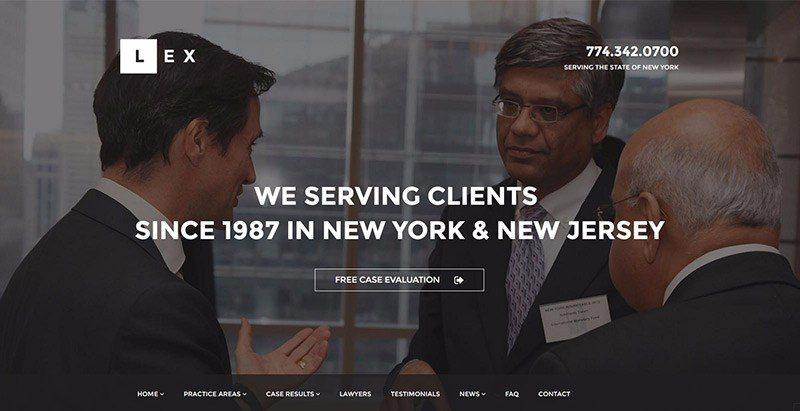Lex 테마 WordPress는 변호사 웹 사이트를 만듭니다.