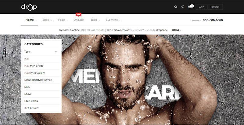 Opal drop shop themes wordpress creer boutique ligne site ecommerce marketplace
