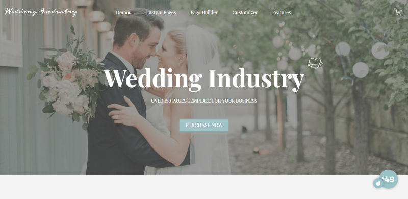 Wedding industry themes wordpress creer site web ceremonie mariage evenement