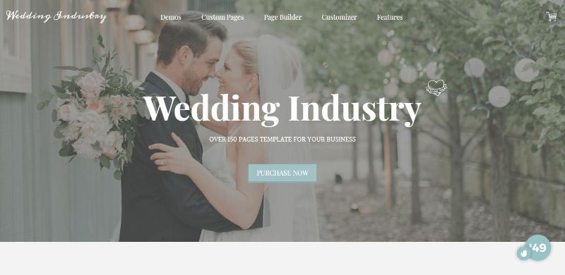 Wedding industry themes wordpress creer site web ceremonie mariage evenement