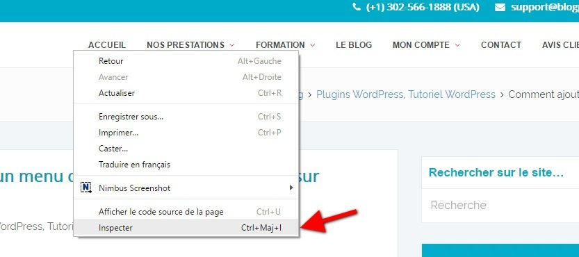 Inspecter une code wordpress tutoriel