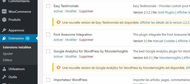 """Résultat de recherche d'images pour """"wordpress mise à jour plugin"""""""