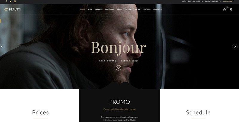 Beauty hair themes wordpress creer site web salon coiffure beaute entreprise pme