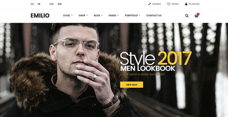Emilio themes wordpress creer boutique ligne ecommerce vente achat marketplace