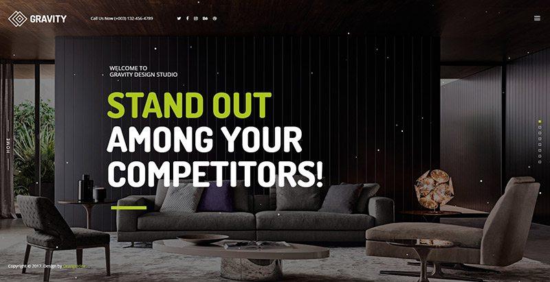 Gravity themes wordpress creer site web agence creative portfolio
