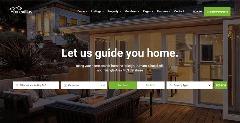 Homevillas themes wordpress creer site web vente achat maisons appartements loyer location