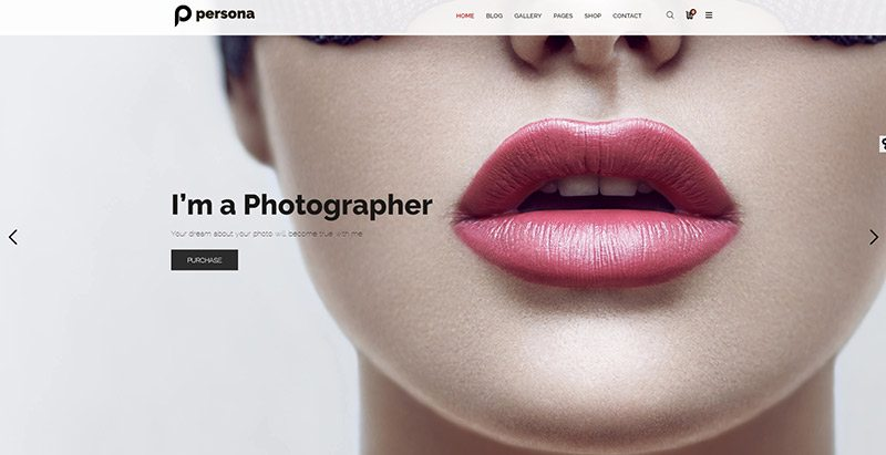 Persona themes wordpress creer site web photographe studio photo portfolio