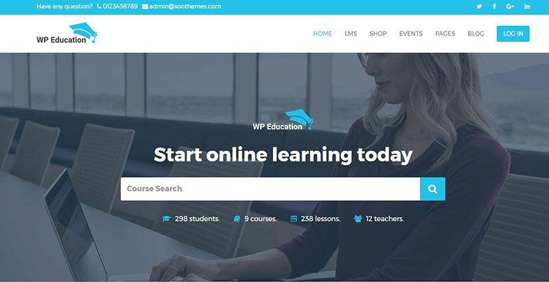 Wp education themes wordpress creer site web e learning formation universite ecole college