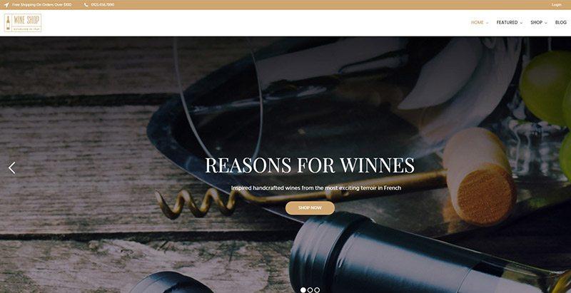 Winnes themes wordpress creer site web vente vin vigne vigneron ecommerce