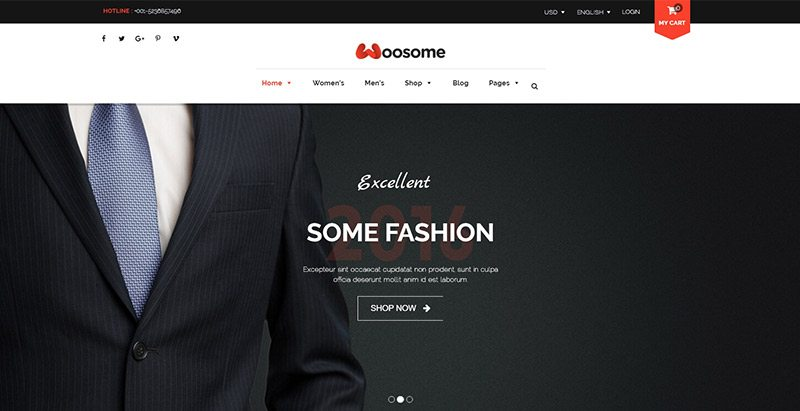 Woosome themes wordpress creer site web ecommerce fitness vente achat boutique en ligne