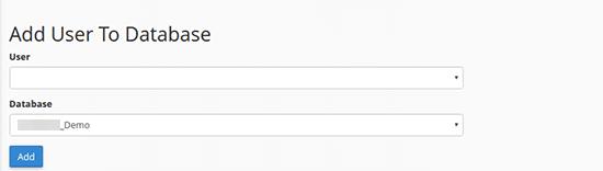 Asignation des utilisateurs à une base de données