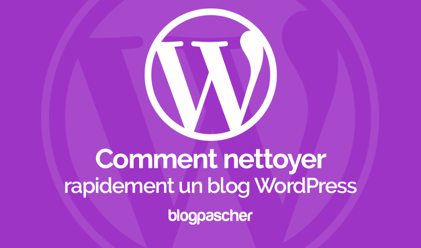 Comment nettoyer rapidement un blog wordpress