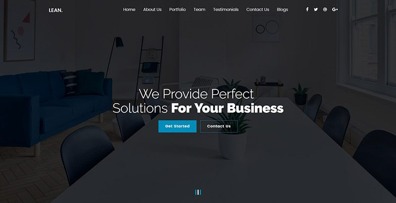 Lean themes wordpress creer site web agence creative portfolio