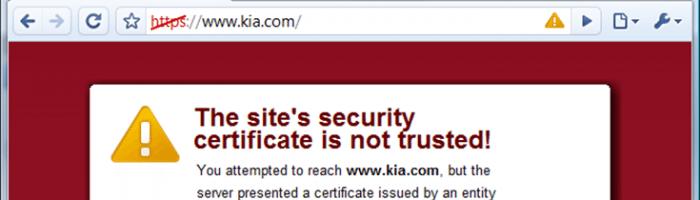 Site não confiável