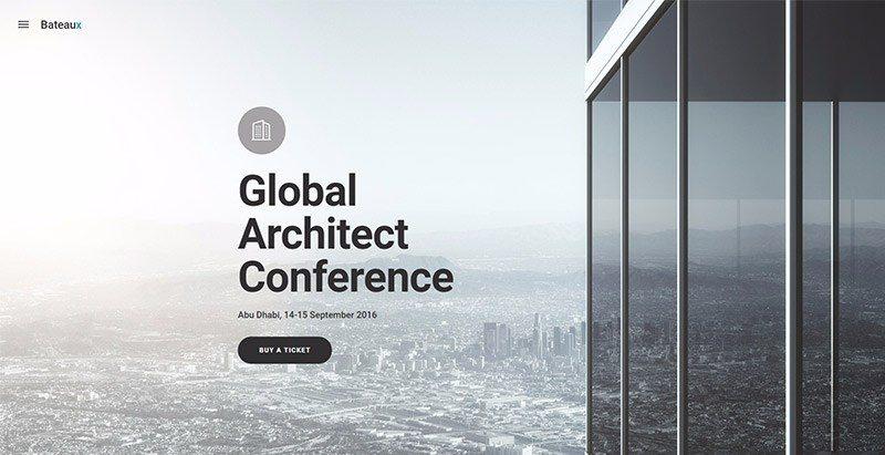 Bateaux themes wordpress creer site web evenements conference congres point de presse
