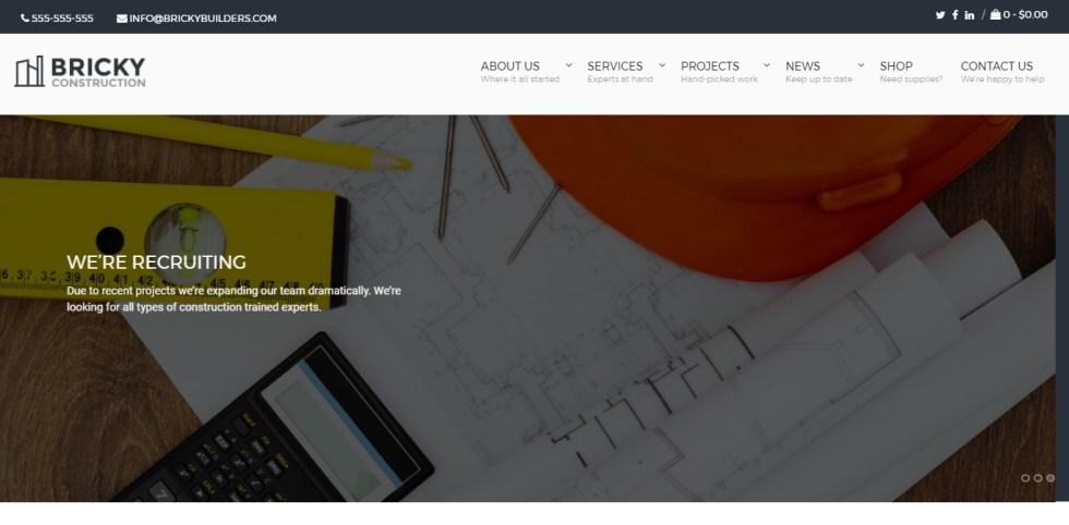 Temas de WordPress para la construcción de sitio web de negocios ...