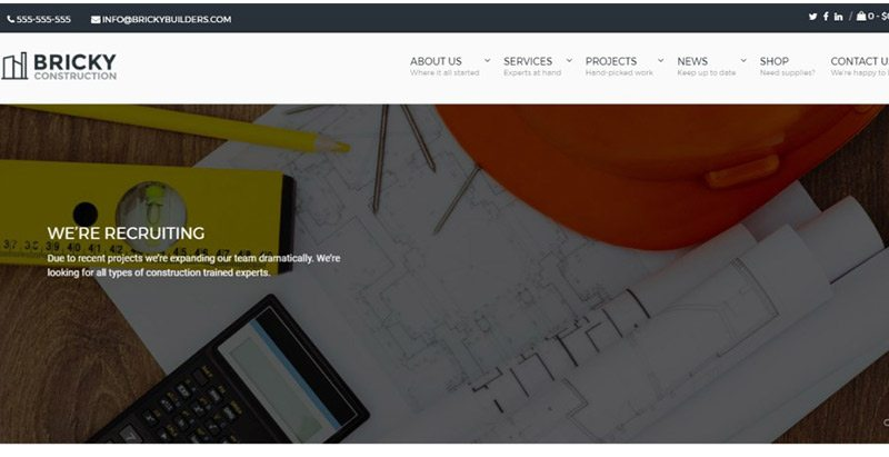 Bricky themes wordpress creer site web entreprise construction vitrine societe 1