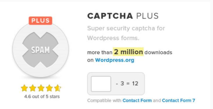 Captcha plus plugin wordpress